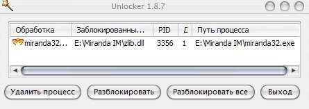 Unlocker - заблокирован процесс или папка - разблокировка - скриншот 4