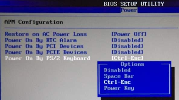 Power on by PS/2 Keyboard