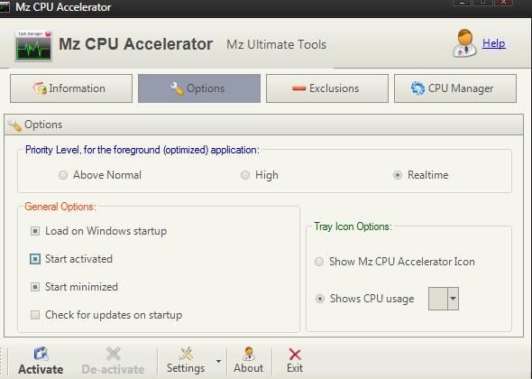 Mz CPU Accelerator - как ускорить компьютер и процессор - скриншот 2