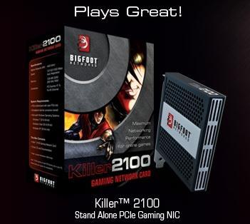 Bigfoot Networks killer 2100 network card