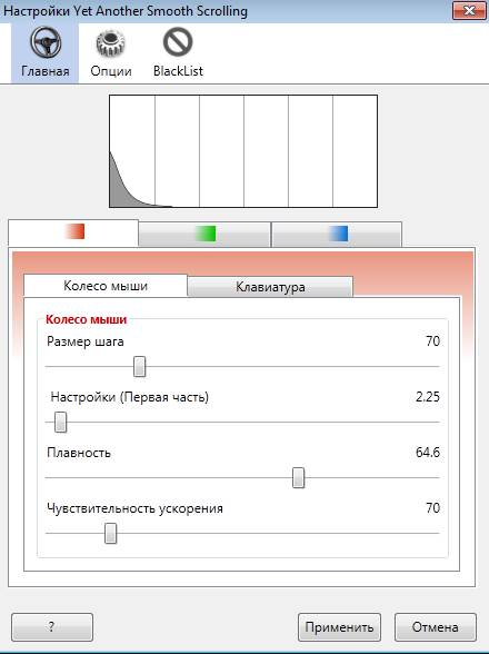 настройки yet another smooth scrolling