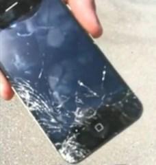 разбитое стекло iphone