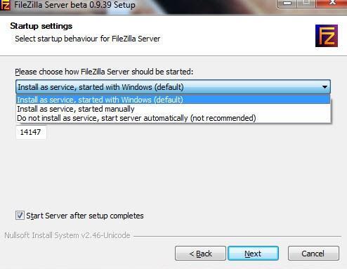 установка и настройка FTP FileZilla Server - скриншот 3