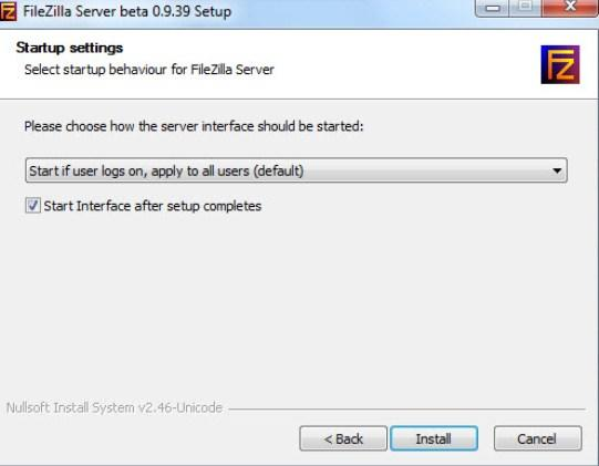 установка и настройка FTP FileZilla Server - скриншот 4