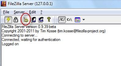 запуск и настройка FTP FileZilla Server - скриншот 6