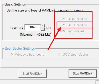 ram диск в памяти настройка и установка dataram скриншот 3