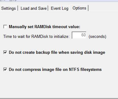 ram диск в памяти настройка и установка dataram скриншот 1