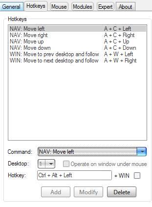 настройка virtuawin - горячие клавиши - скриншот 3