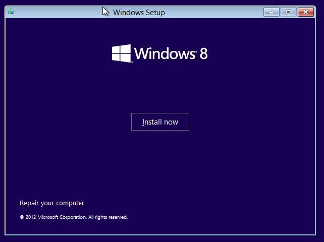 установка windows 8 - восстановление или установка