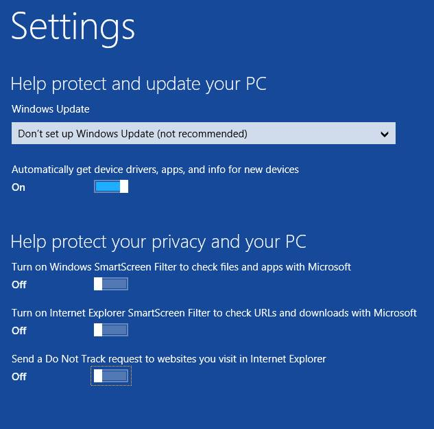 установка windows 8 - настройка после установки 3