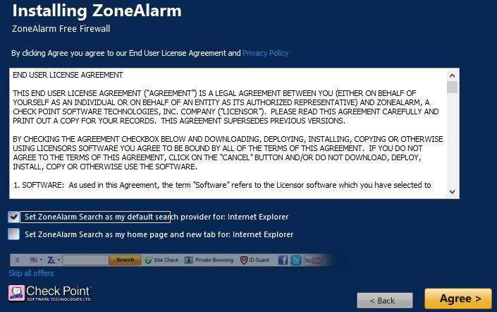 zone alarm установка 2