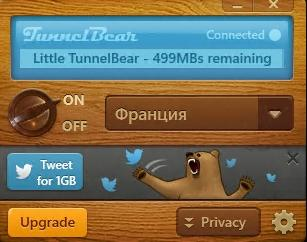 Working TunnelBear