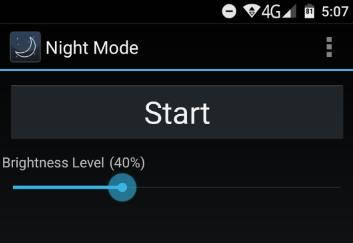 night mode - снижение уровня яркости экрана на Android - скриншот 1