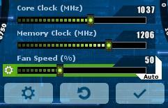 как разогнать видеокарту - скриншот 13 - главные параметры - memory clock и core clock