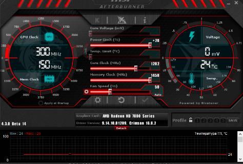 как разогнать видеокарту - скриншот 6 - нестандартный интерфейс msi afterburner