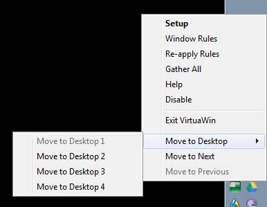 настройка virtuawin - переключение рабочих столов из трея - скриншот 6