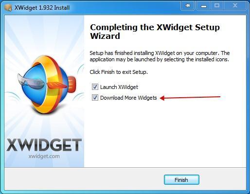 XWidget installation