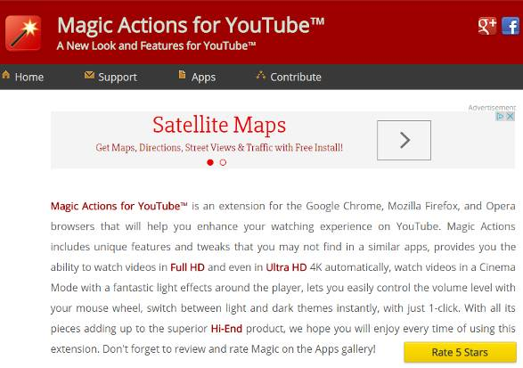 настройки Magic Actions for YouTube