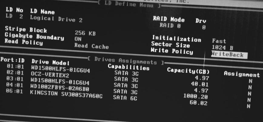 настройки RAID-контроллера