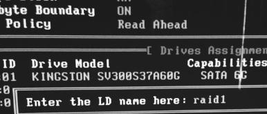 задаём имя для RAID-массива