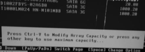 выбор размера RAID-массив