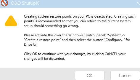 предупреждение O&O - как ускорить компьютер - скриншот 26