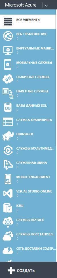 microsoft azure - список