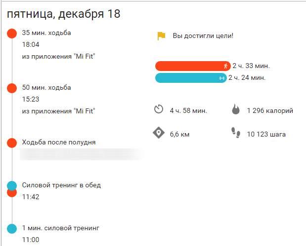Google Fit и Xiaomi Mi Band 1S Pulse
