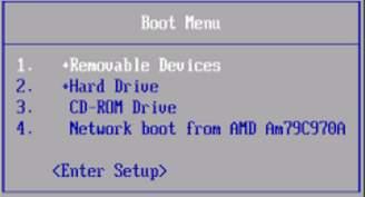 boot-меню для выбора порядка загрузки memtest