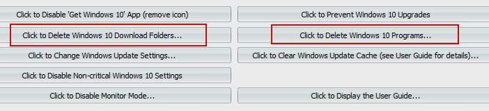 очистка предложения обновлений до windows 10