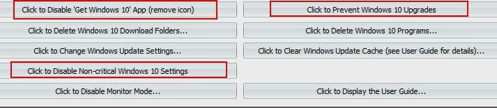 GWX Control Panel - отключение обновления до windows 10
