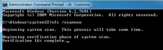 проверка системных файлов для восстановления svchost.ext