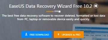 EaseUS Data Recovery - программа для восстановления данных - обзор 1
