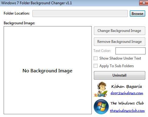 Windows 7 Folder Background - установка фона для папок 2