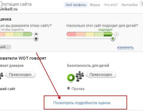 плагин WOT - система оценки и безопасности сайтов