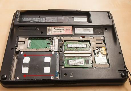 как разобрать ноутбук, скриншот 8, как вынуть жесткий диск
