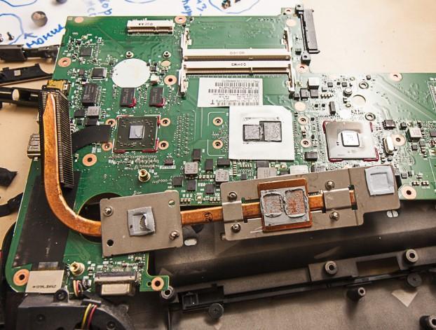 как разобрать ноутбук, скриншот 24, система охлаждения