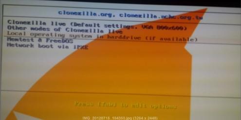 создание образа диска - clonezilla - бесплатный аналог acronis - скриншот 2