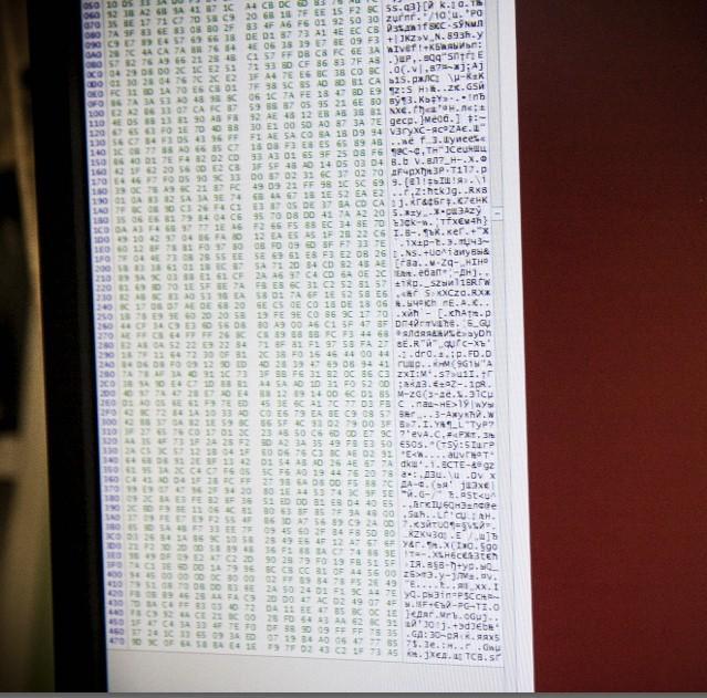 вид данных на флешке