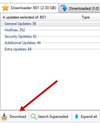 Windows Hotfix Downloader - загрузка обновлений, процесс