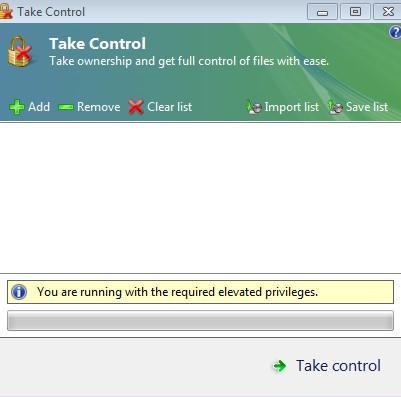 получение прав администратора через TakeControl