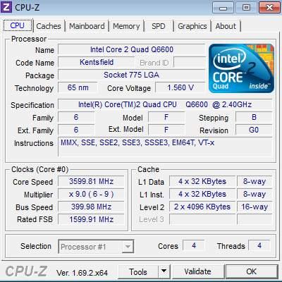 CPU-Z разгон P5E Deluxe