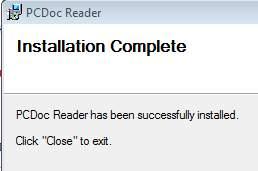 установка PCDoc Reader