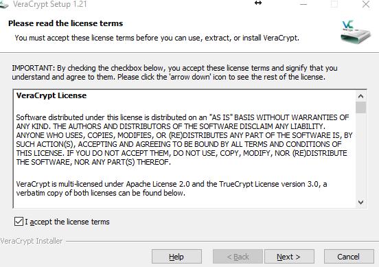 VeraCrypt - установка программы для шифрования - обзор процесса - скриншот 2