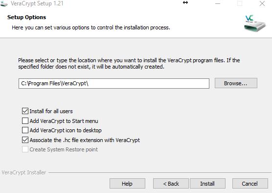 VeraCrypt - установка программы для шифрования - обзор процесса - скриншот 4