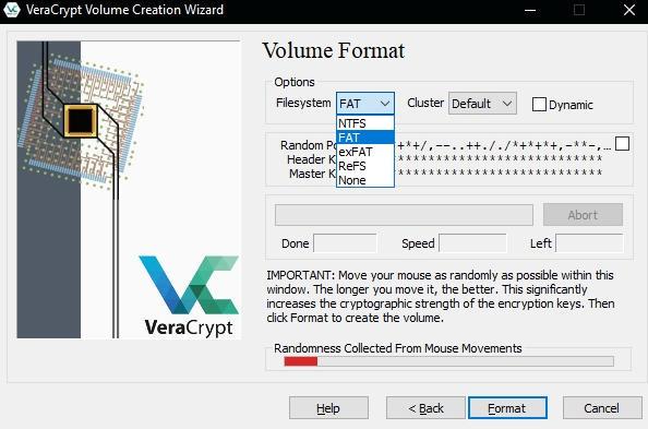 как зашифровать файлы и скрыть их паролем - VeraCrypt инструкция - скриншот 9