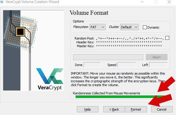 как зашифровать файлы и скрыть их паролем - VeraCrypt инструкция - скриншот 10
