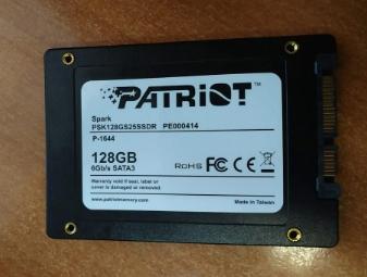 Отзыв о Patriot Spark SSD - фотография 2