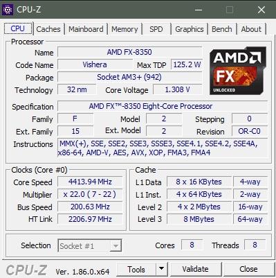 Как узнать всё про процессор, мат.плату и память - СPU-Z - скриншот 1