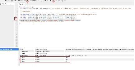 Функция Debugging в Google Script